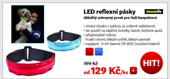 LED reflexní pásky