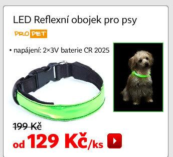 Reflexní LED obojek pro psy