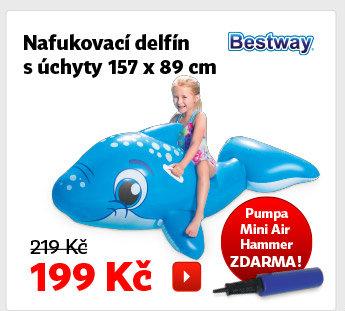 Nafukovací delfín s úchyty Bestway
