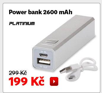 Power banka Platinum 2600 mAh