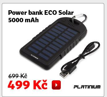 Power banka Platinum ECO Solar 5000 mAh