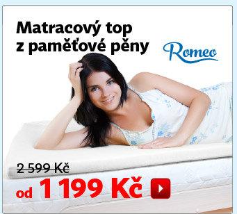 Vrchní matrace z paměťové pěny Romeo