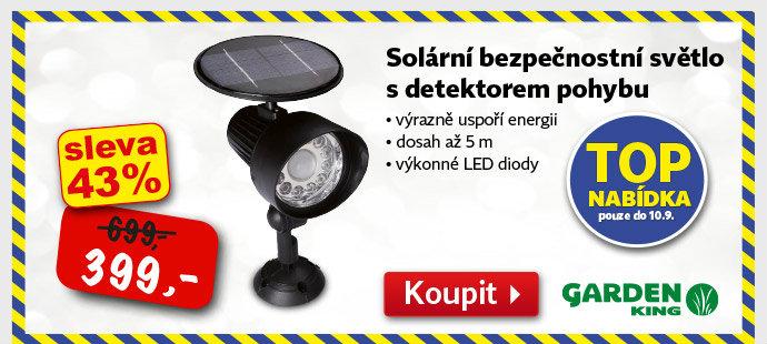 Solární světlo s detektorem pohybu Gardem King