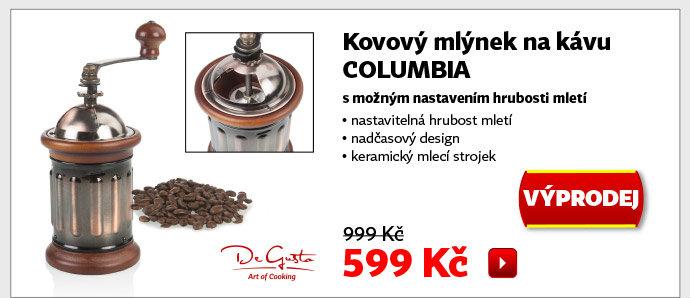 Kovový mlýnek na kávu De Gusto Columbia
